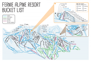 Fernie Alpine Resort Bucket List Map Picture