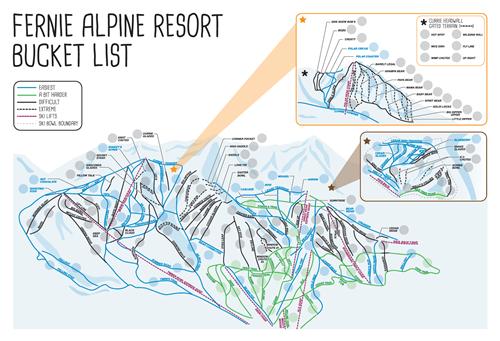 Fernie Alpine Resort Bucket List Map Picture